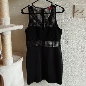 NWT Bongo M black net cutout bodycon mini dress